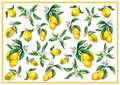 The background of the branches of fresh citrus fruit lemons with green leaves and flowers.