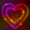 Background with bright beautiful heart Royalty Free Stock Photos