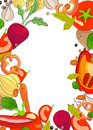 Background with bright vegetables Stock Photography