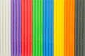 Background of brightly coloured modelling clay stripes Stock Images