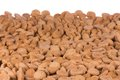 Background of brown ginger nuts typical dutch sweets at sinterklaas event in december Stock Photos