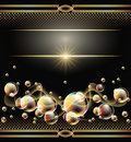 Background with bubbles and star Royalty Free Stock Photo