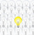 Background bulb off and one burning Royalty Free Stock Images