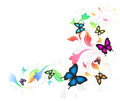 Background With Butterflies Royalty Free Stock Photos