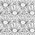 Background of butterflies black and white beautiful seamless colors hand drawn contour lines strokes perfect for Stock Photography