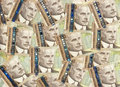Background of Canadian one hundred dollar bills Royalty Free Stock Images