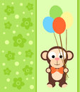 Background card with monkey funny Royalty Free Stock Photography