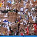 Background of Cardboard for Recycling Stock Photography