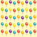 Background with cartoon ice cream cups Royalty Free Stock Image