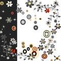 Background cercles flowers Στοκ φωτογραφία με δικαίωμα ελεύθερης χρήσης