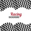 Background with checkered racing flag. Royalty Free Stock Photo