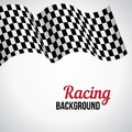 Background with checkered racing flag. Stock Images