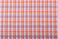 Background checkered tablecloth closeup Royalty Free Stock Photography