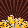 Background with cheese Stock Image