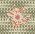 Background china ornament flowers wallpaper Stock Photography