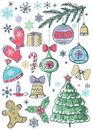 Background with christmas elements,  vector Royalty Free Stock Photography