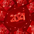 2021 background for Christmas and Happy New Year poster Royalty Free Stock Photo