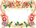 Background with christmas symbols Stock Photography