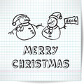 Background for a Christmas theme with snowmen