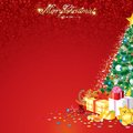 Background with Christmas Tree Stock Photos