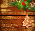 Background with Christmas tree and candy Stock Images