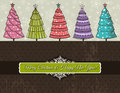 Background with christmas trees, vector Royalty Free Stock Photo