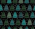 Background christmas trees vector illustration with Royalty Free Stock Photos