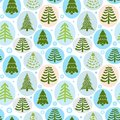 Background christmas trees vector illustration with Stock Images