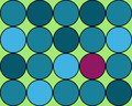Background of circles in cool sea colors with pop blues green shocking neon hot pink Stock Image