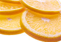 Background with citrus fruit of orange slices closeup Stock Photography