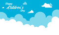 Background cloud design for childrens day