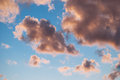 Background from clouds beautiful pink against the blue sky sky Royalty Free Stock Images