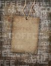 Background coffee texture vintage burlap Stock Images