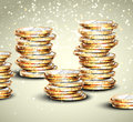 Background with coins Stock Photo