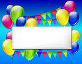 Background with color balloons for design Royalty Free Stock Photo