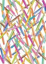 Background with color pencils Royalty Free Stock Photography