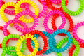 Background color spiral scrunchy. Royalty Free Stock Photo