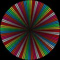 Background of colored balls on a black