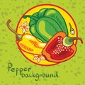 Background of colored bell peppers backgroundof this is file eps format Stock Photo