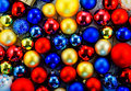 Background of colored Christmas tree balls Royalty Free Stock Photo