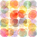 Background colored circles unusual bright on a watercolor Royalty Free Stock Photo