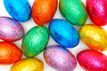 Background of colored easter eggs Royalty Free Stock Photography