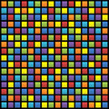 Background of colored squares arranged in a matrix Stock Images