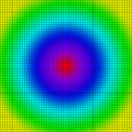 Background of colored squares arranged in a matrix Stock Photo