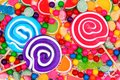 Background of colorful assorted candies Royalty Free Stock Photo