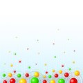 Background with colorful balls for invitations banners etc Stock Image