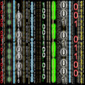 Background, Colorful Binary Code Royalty Free Stock Photo