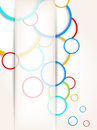 Background with colorful circles Stock Photography