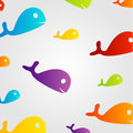 Background with colorful dolphins design element or Stock Image