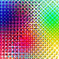 Background colorful halftone gradient vector. Abstract backround with colorful halftone elements. Geomeric retro Royalty Free Stock Photo